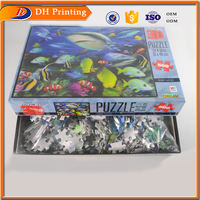 3D Flat Puzzle,Custom Printed Puzzles,Unique Moving 3D Puzzle
