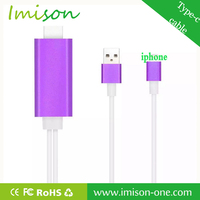 OEM 8-pin usb to mini hdmi adapter sync cable for pad/phone