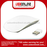 wireless Bluetooth mouse 24GHZ 10m Wireless USB Receiver for PC Laptop White