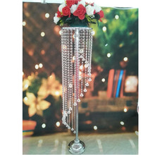 wedding centerpieces crystal / acrylic bead table decoration for event decoration, flower stand