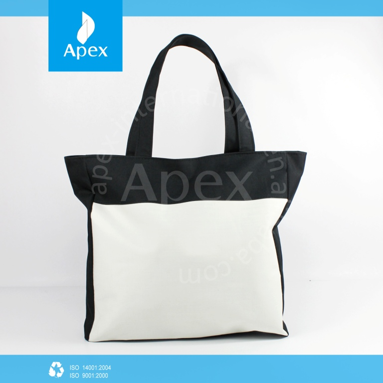 resuable cotton polyester custom shopping bags