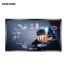 HD wifi wall mounted 55 inch lcd touch screen interactive digital signage computer kiosk