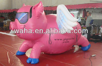 2015 Hot sale inflatable winged pig wedding shaped balloon