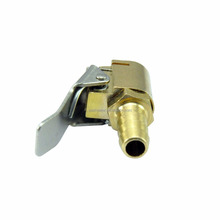Open Flow Air Chuck with Lock - Tire Inflator Valve Connector - Brass 6mm 1/4""