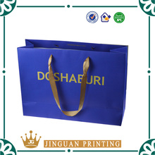 Logo custom printing high quality hot stamping fashion shopping packaging luxury custom gift paper bag
