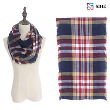 18 colors Women Winter Classic multi colors Tartan Plaid Infinity Scarf