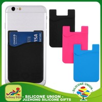 hot promotion 3M sticker adhesive silicone smart wallet,phone back purse,silicone iwallet