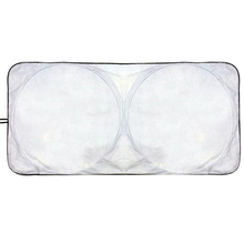 148*70 White Folding Tyvek Car Sunshade With Square Circle