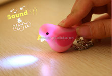 led promotional gifts love birds for sale keychain with sound and light