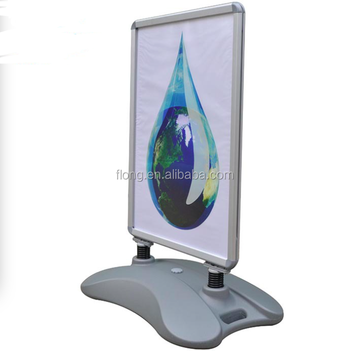 Outdoor Plastic Base Water Filled Poster Stand
