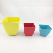 eco bamboo FLOWER POT & BASE TRAY planter Various color