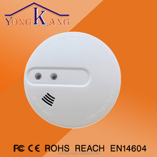 Battery powered motion sensor combined heat and smoke detector with backup battery/ home security system