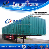 2015 hot sale tri axle dry food transport van type box semi trailer for sale
