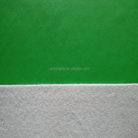green PVC leather for shoes