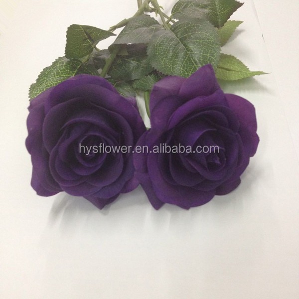 Cadbury purple rose Top quality real touch latex roses,artificial purple rose floral