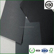 wholesale customized 600gsm-1200gsm laminated C2S black cardboard paper