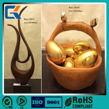 Lucky decorations golden eggs 3D design polished ceramic handicrafts