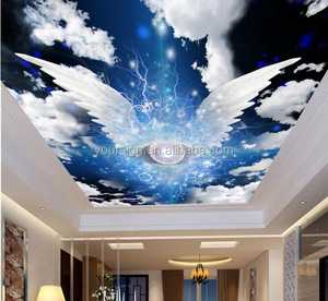 Custom home decoration 3d ceiling mural wallpaper for backdrop