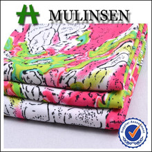 Mulinsen Textile Knit Jersey Four Way Stretch Material 96 Polyester 4 Spandex Printed Fabric