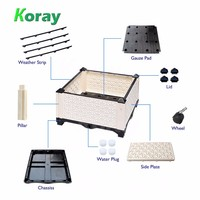 Hydroponic Growing Systems for Homemade Indoor Hobby Grower Plastic Flower Nursery Pot