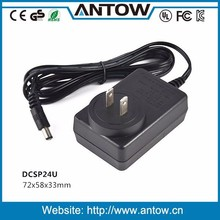 100% tested high quality 24W ac dc adapter 12V 2A