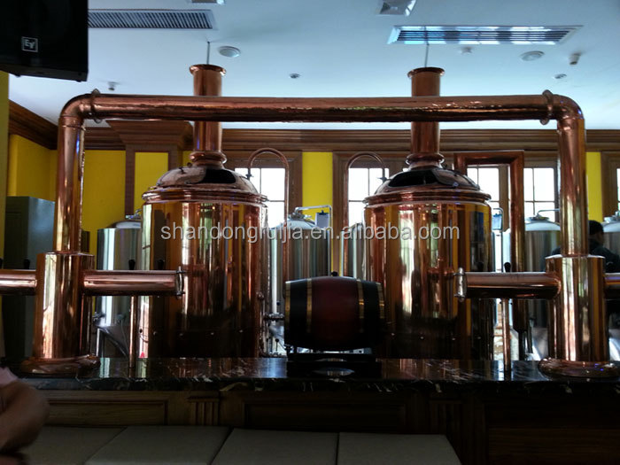 steaming hearing beer equipment 1000L copper cladding brewery equipment