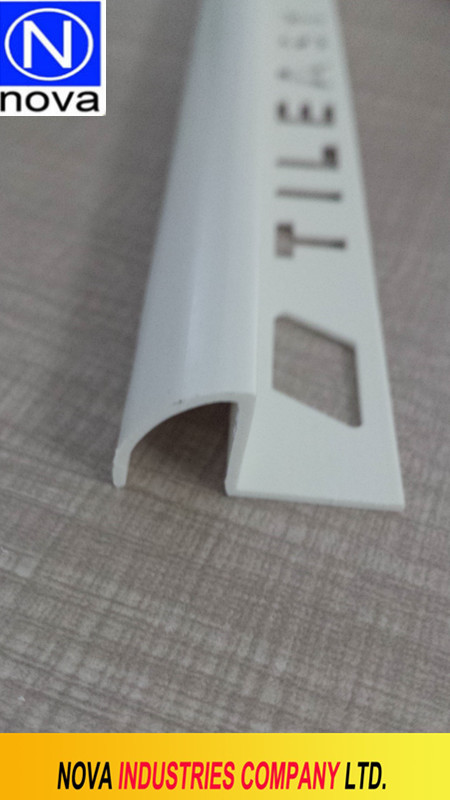 PVC outstand type exterior tile trim