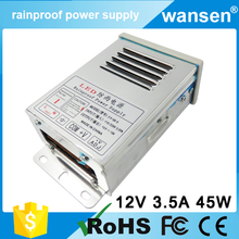 new arrival CE 40w waterproof mini led transformer 12v 3.5a ac/dc power supply led driver