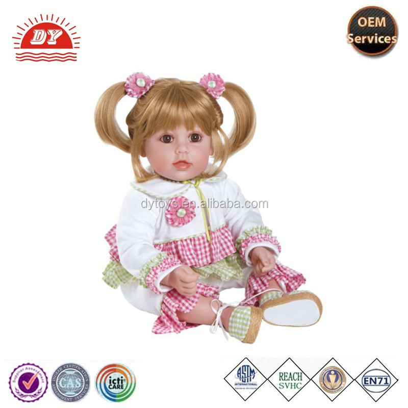 Blonde Hair Brown Eyes Cloth Vinyl adora baby doll