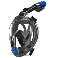 Easy swimming breath diving full face snorkel mask for kid children / adult