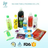 custom print plastic pvc shrink warp bottle labels