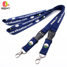 Promotion item silk screen nylon custom lanyard