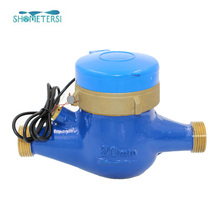 remote power reading brass body Pulse Water flow meter pulse sensor