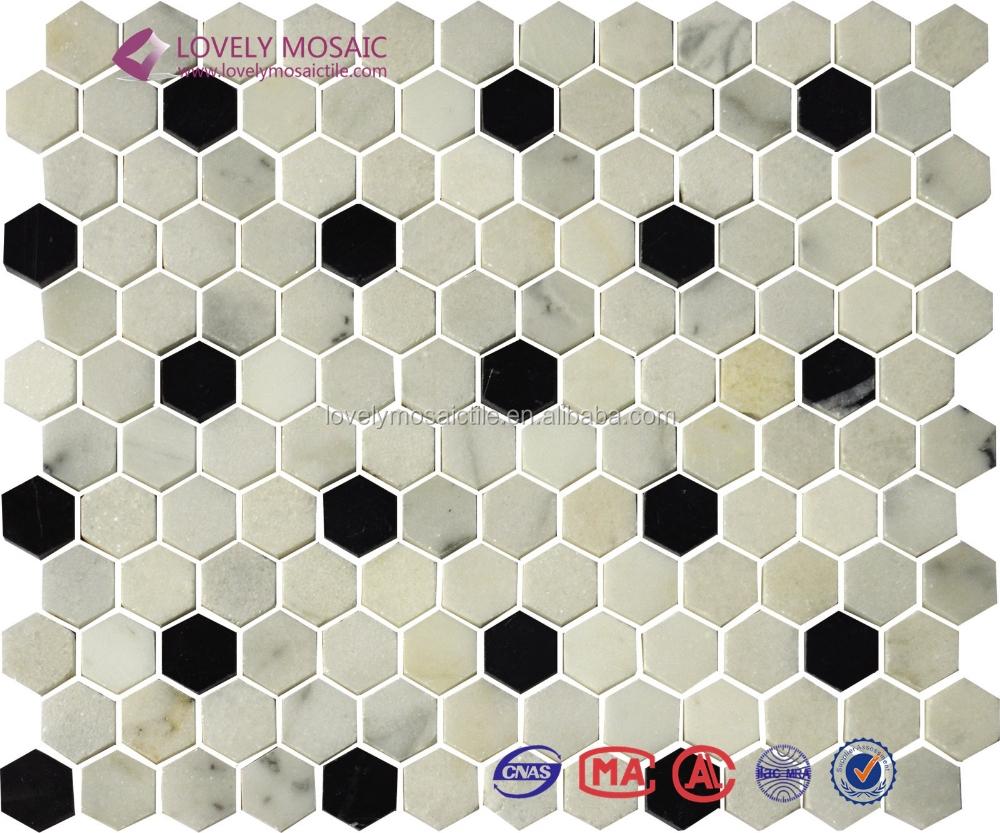 Black And White Mosaic Wall Tiles Bathroom Tile