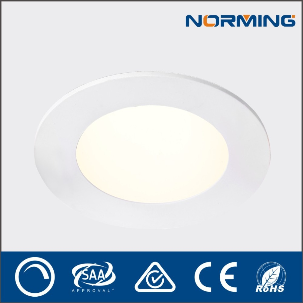 Dimmable Round Flat Ceiling Led Light Alumilum Recessed Ceiling Downlight with LED driver , Warm White 2700K - 3000K