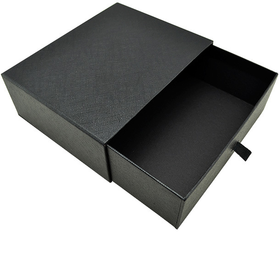 Wholesale veins box custom black belt drawer factory packaging gift box