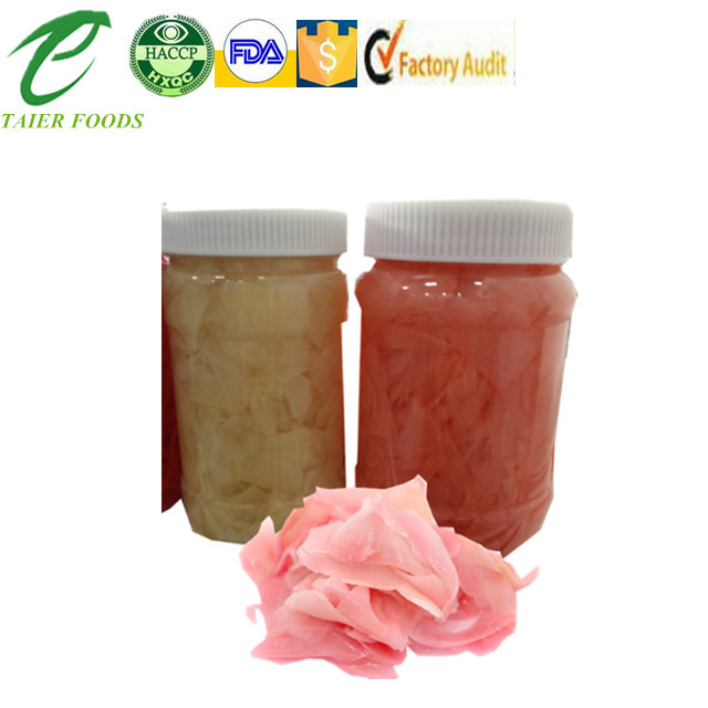 factory wholesale grade A B pickled pink sushi ginger in preserves