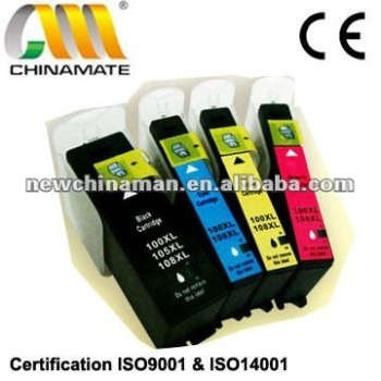 Compatible Ink Cartridge for Lexmark 100BK/C/M/Y with Chip