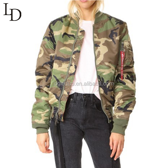 Dongguan Manufacturer Cheap Price high Quality camouflage color Women jacket