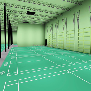 Professional PVC Sports Badminton Court Mat Indoor Used