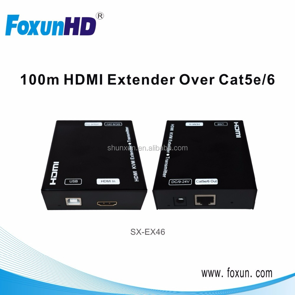 HDMI KVM Extender 60m over single CAT5/6, with USB 2.0 pass through support Keyboard and mouse, Full HD 1080P