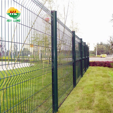 welded 50*200mm mesh nylofor 3D panel fencing with Anti-theft Clips