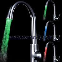 2012 Colorful Temperature Sensor LED Fancy Kitchen Faucet LD8002-A9