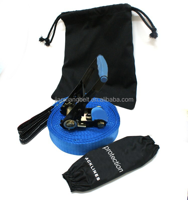 good quality hot sale manufactory slackline 15m and 25m for sport match