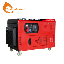 10kva AC three phase portable soundproof type diesel generator for home use