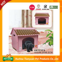2016 New Pet Products Easy Assemly Pink Wooden Decorative Dog Houses