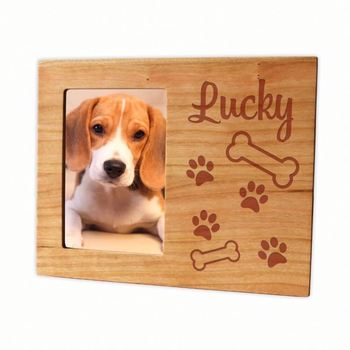 Dog memory photo frame pet frame engraved