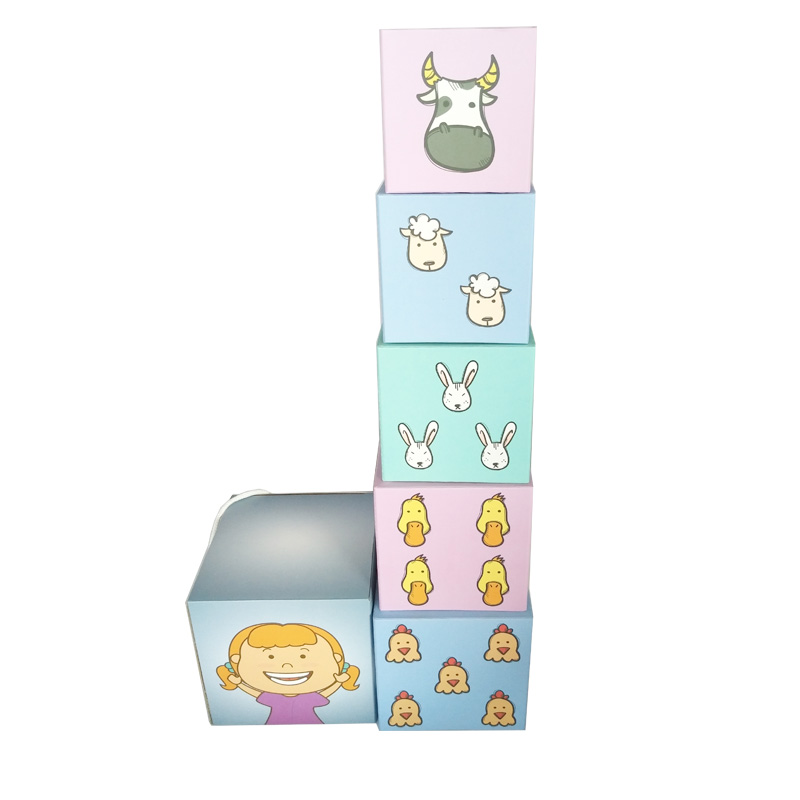 Five Different Patterns Educational Children Stacking Box