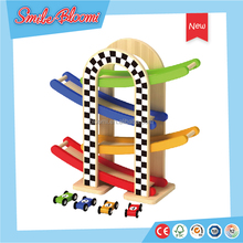 Hot selling kids wooden mini rail car with adorable colors