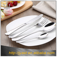 Precision forged flatware sets silver home stainless steel crockery set